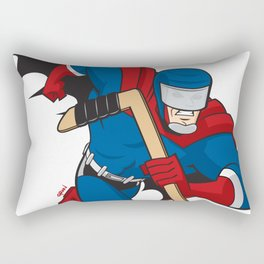 Super Hockey Hero Rectangular Pillow
