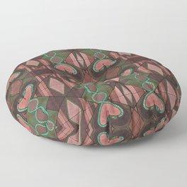 WOVEN SNAKE HEARTS Floor Pillow