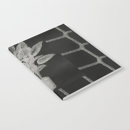 Strong Saints - Magic Dark collage with key, saints, net, shells, plants and grid Notebook