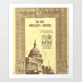 1983 OSA Souvenir Cover Art Print