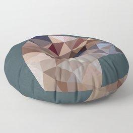Geometric Alpaca Teddy Floor Pillow