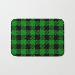 Green Buffalo Plaid Bath Mat