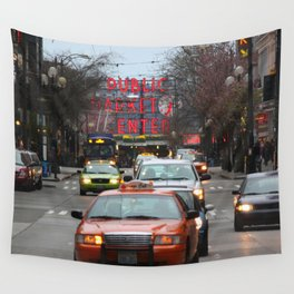 Pike Place Market Photography Print Wall Tapestry