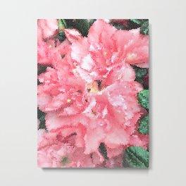 Flower Mosaic Millennial Pink Metal Print