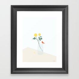 HUN KAN LIDE BLOMSTER (She likes flowers.) Framed Art Print