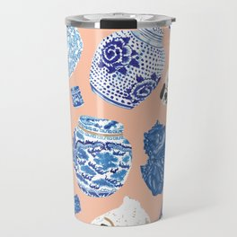 Chinoiserie Curiosity Cabinet Toss 1 Travel Mug