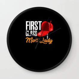 First Class Mail Lady Wall Clock