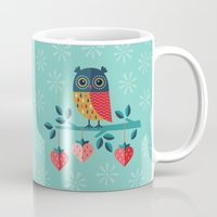 jazzberry Mugs featuring OWL ALWAYS LOVE YOU by Daisy Beatrice