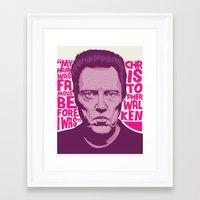 christopher walken Framed Art Prints featuring Christopher Walken by Mike Wrobel