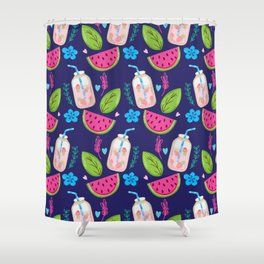Colorful summer pattern Shower Curtain