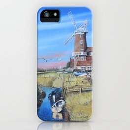 Cley Mill with boats iPhone Case