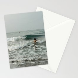 A great holiday in Spanish beach  Stationery Cards