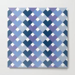 Blue tones chevron Metal Print