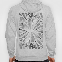 Symmetric drops - black and white Hoody
