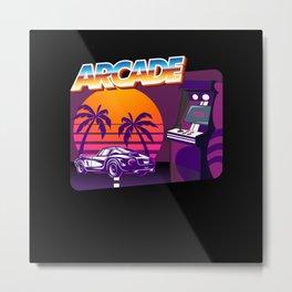 Retro Arcade Car Design Metal Print