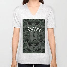 Raw ripped fatigue Unisex V-Neck
