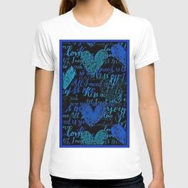 Kiss Me, Miss me Blue T-shirt