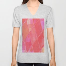 Re-Created Mirrored SQ LXXVI by Robert S. Lee Unisex V-Neck