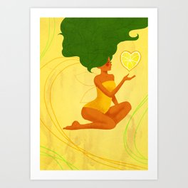 Yellow Lemon Life Art Print