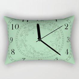 green floral clock Rectangular Pillow