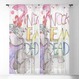 Miss Kitty : Knock 'em Dead Sheer Curtain