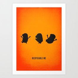 Minion Minimalist Movie Poster Art Print