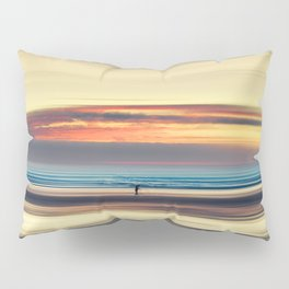 Along Memory Lines - Abstract Seascape Pillow Sham