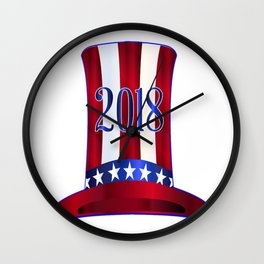 Uncle Sam's 2018 Tall Hat Wall Clock