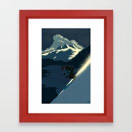 Revelstoke skiing Framed Art Print