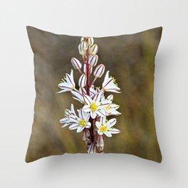 Asphodel Mediterranean Wild Lilies Flowers Throw Pillow