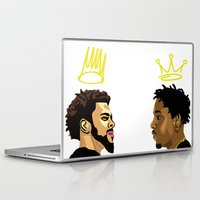 kendrick lamar Laptop & iPad Skins featuring 2 Kings. Kendrick Cole by MikeHanz