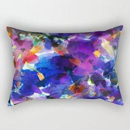 Royal Blue Garden Rectangular Pillow