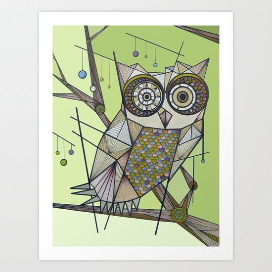 Sleeping's For The Birds! Art Print