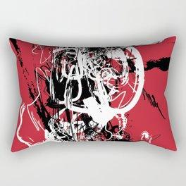 Red Spider - Abstract Art, Art Prints Rectangular Pillow