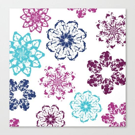 Batik Flowers Canvas Print