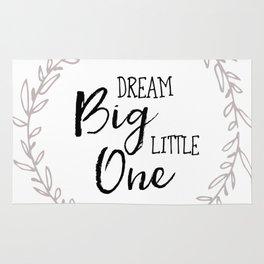 Dream Big Little One Nursery Print Rug