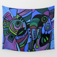 bugs Wall Tapestries featuring BUGS by Deyana Deco