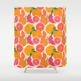 Grapefruit Harvest Shower Curtain