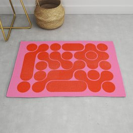 Abstract mid-century shapes no 6 Rug