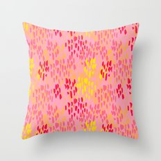 Picnic Pals paint in strawberry Throw Pillow