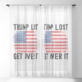 Biden Victory - Biden Won Get Over It Sheer Curtain