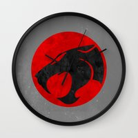 thundercats Wall Clocks featuring Thundercats (Super Minimalist series) by Itomi Bhaa
