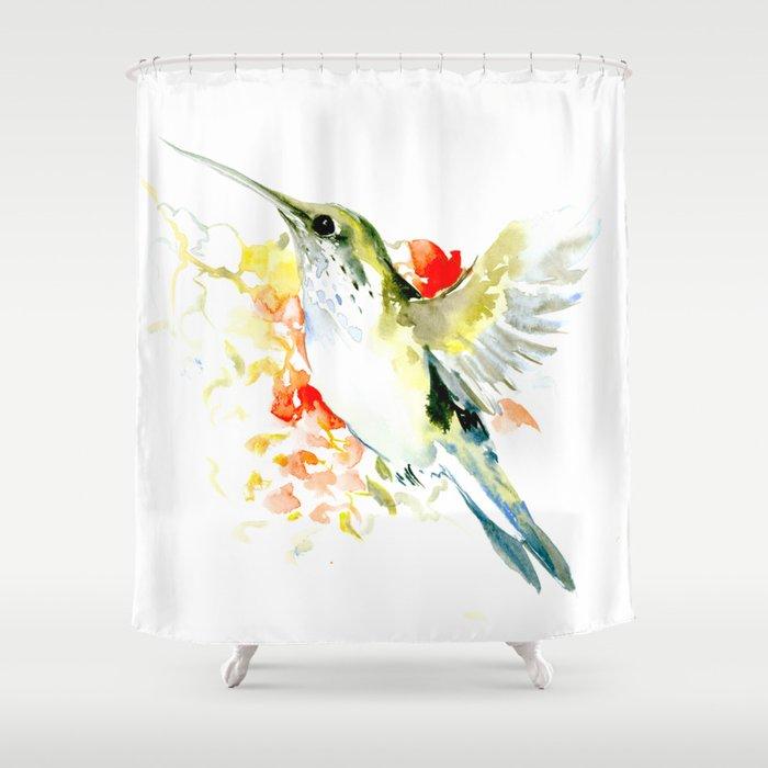 Hummingbird Shower Curtain By Sureart
