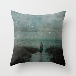 Stars in the Night Sky Throw Pillow