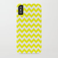 chevron iPhone & iPod Cases featuring Chevron (Yellow/White) by 10813 Apparel