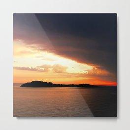 Stormy Sunset Metal Print