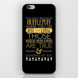 Hufflepuff iPhone Skin