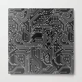 Science Technology Engineering Math - A pattern Metal Print