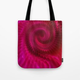 Red Power Wave Tote Bag