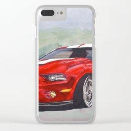 Red Cobra Clear iPhone Case